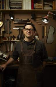 Matt Rubendall in his shop