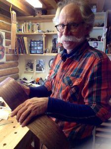 Wilson Burnham in his workshop