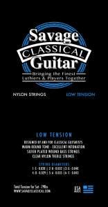 Savage Classical Guitar Classical Guitar Strings Low Tension