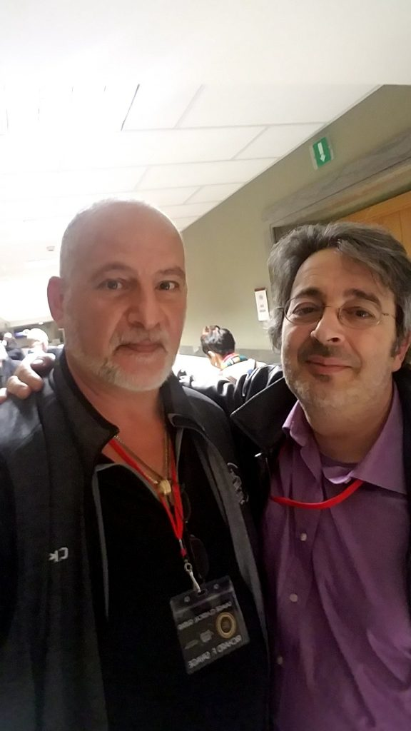 Michele (right) with me at the Roma Expo in 2018