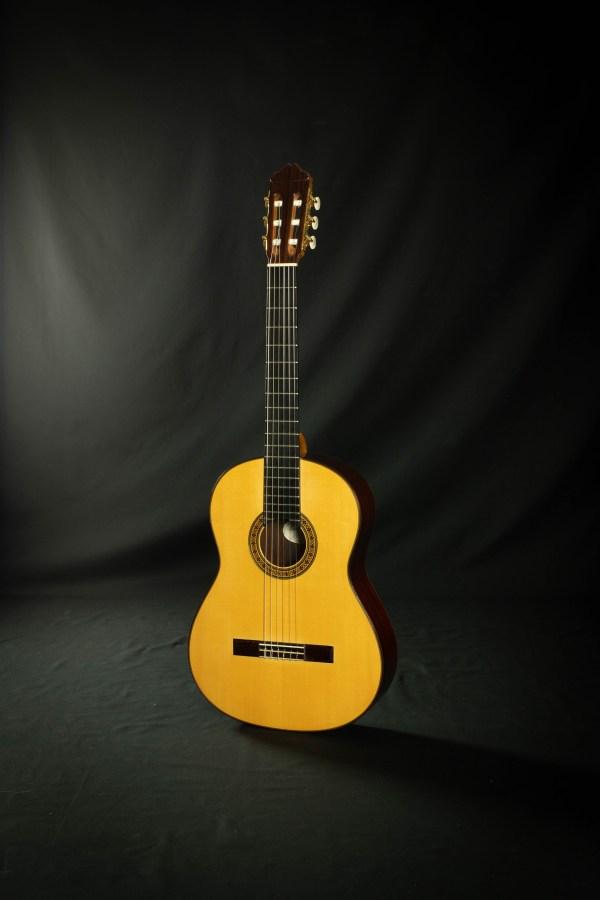 Manuel Adalid Custom Negra Flamenco Guitar #001