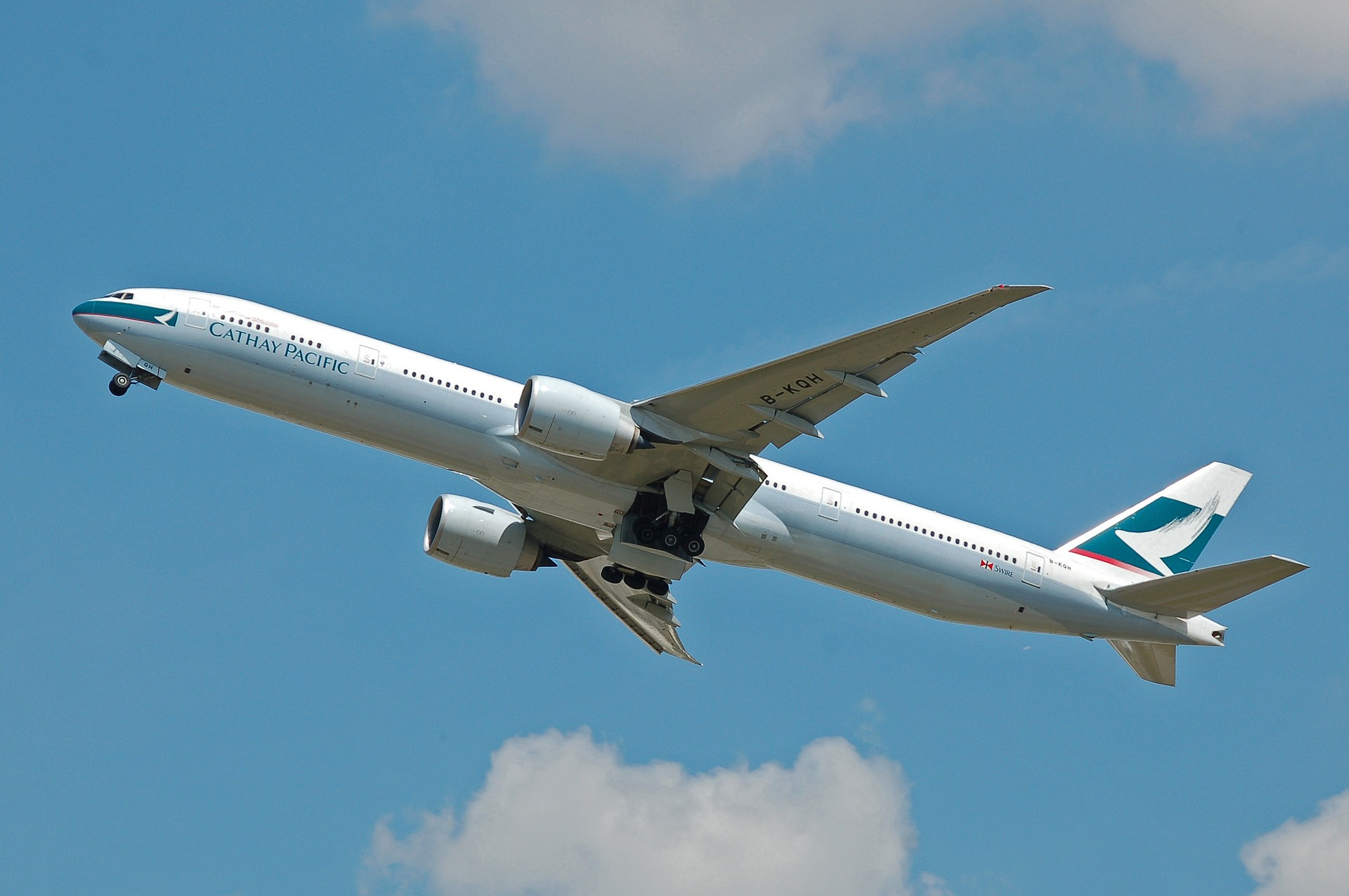 cathay pacific airplane