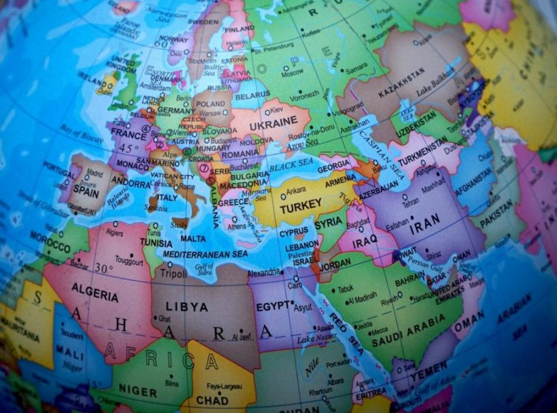 globe europe map
