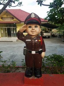 thai policeman statue