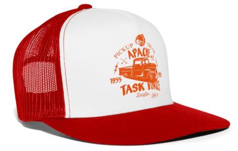 Trucker Cap Red/White