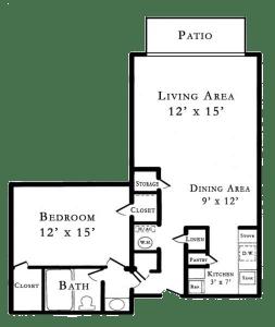 1 Bed / 1 Bath / 644 sq ft / Rent: Please Call