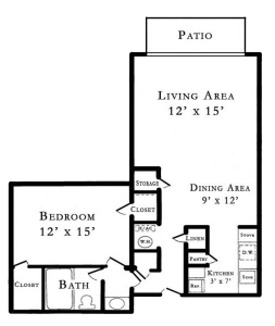 1 Bed / 1 Bath / 644 sq ft / Rent: Please Call