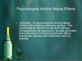 psycholical effects of alcoholism