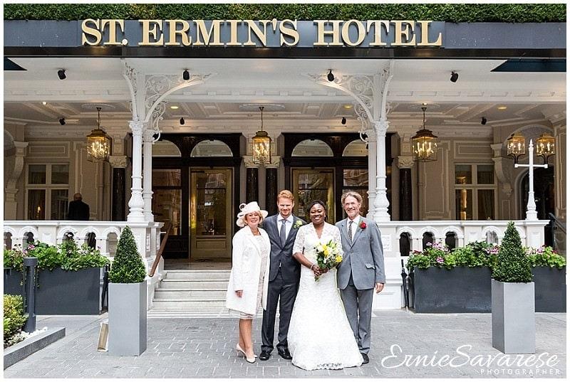 London Mayfair Wedding Photographer St Ermins Hotel