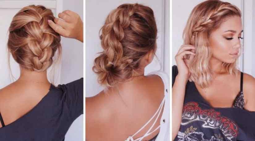 bilder Einfache Frisuren Halblange Haare