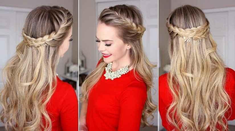Einfache Frisuren Halboffen Ideen