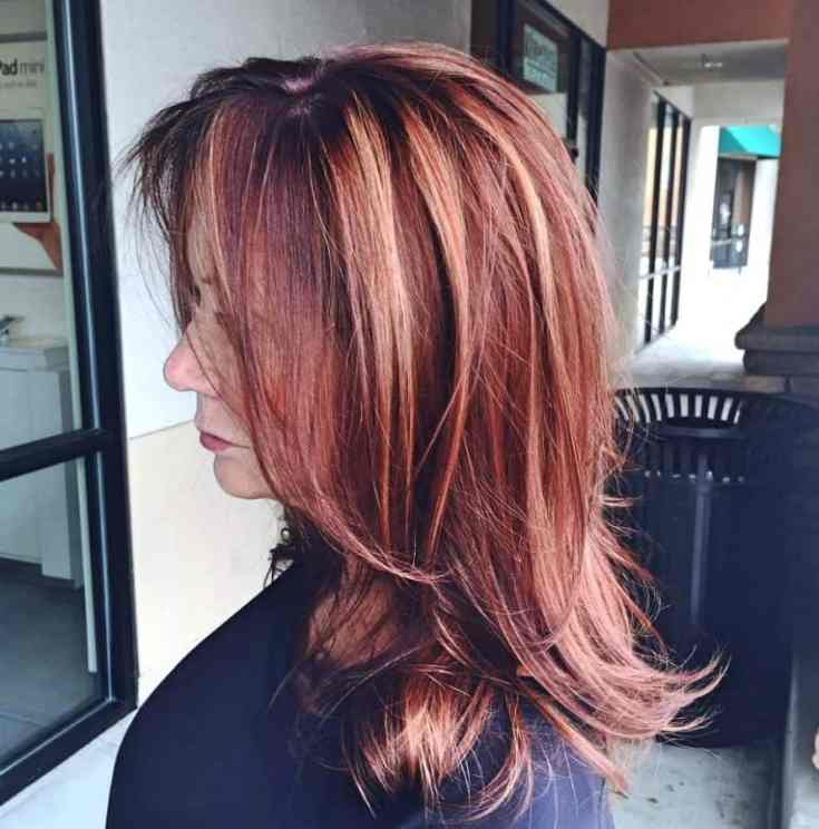 Ideen Frisuren ab 50 Lange Haare Lange Bombshell Red Locks