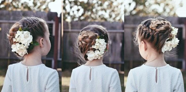 Inspirationen Dirndl Frisuren mit Blumen Ideen