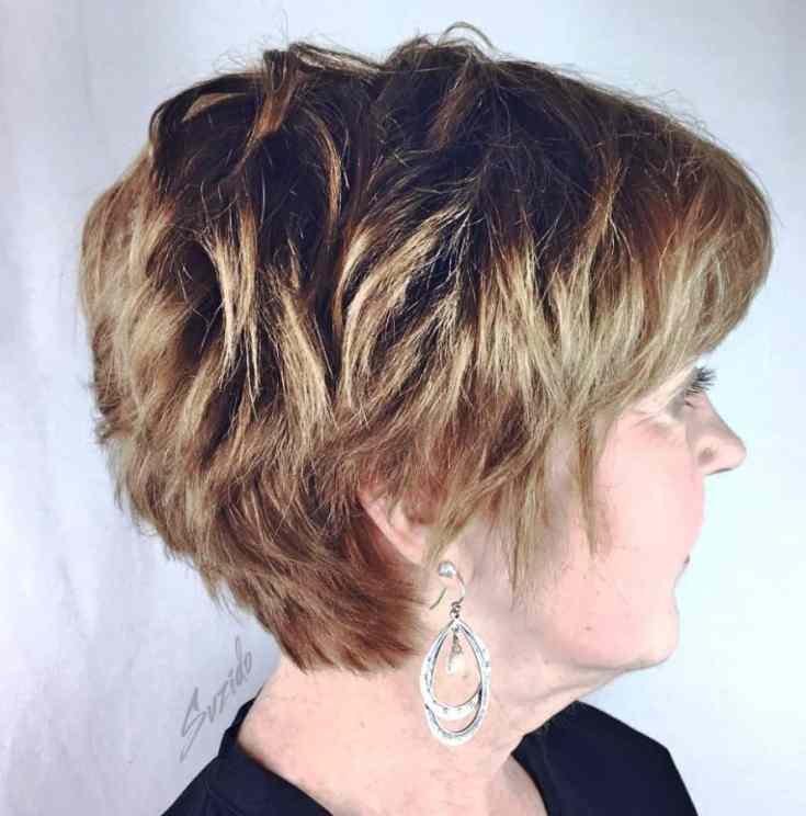 Tolle Frisuren ab 50 Kurz Reifer kurzer geschichteter Schnitt