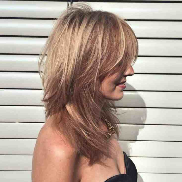 Beste Damen Frisuren Halblang Wunderschönen Stilvolle abgehackte Schlösser