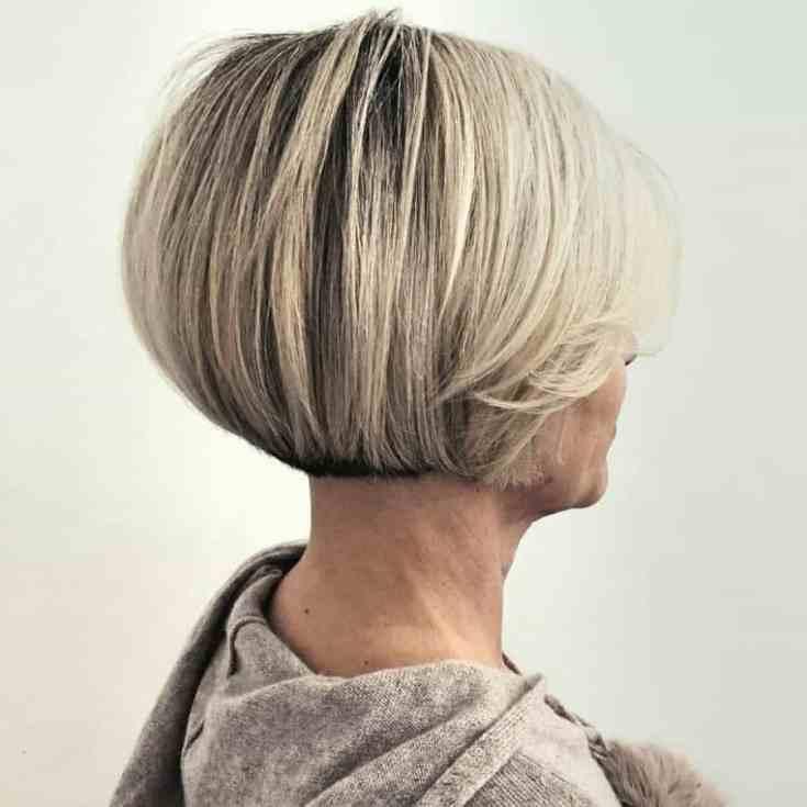 Erstaunlich Damen Frisuren ab 50 Ideen Stumpfer, nackter Bob