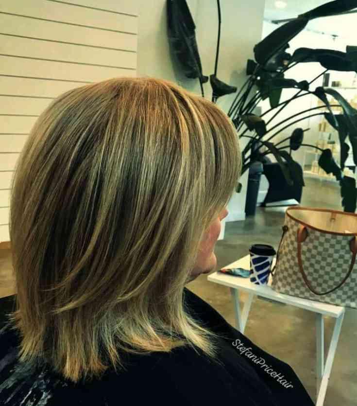 Wunderschönen Frisuren für Sehr Dünnes Haar ab 50 Neuer Mittlere gerade Blowout-Frisur