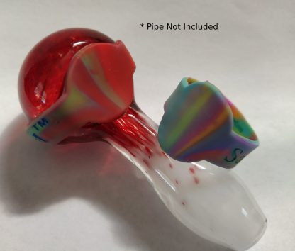 Mixed Colored Plain Save A Bowls on a pipe