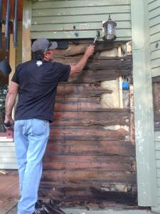 Wood was rotting in the Victorian home when it was purchased in 2012. (photo courtesy of Mark Cardis)