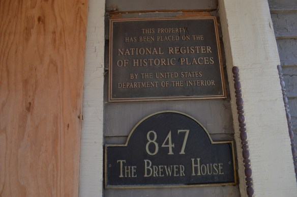 "The Brewer House is listed on the National Register of Historic Places and is the last remaining house on its side of Fourth Avenue's ""mansion hill"" in Cedar Rapids. (photo/Cindy Hadish)"