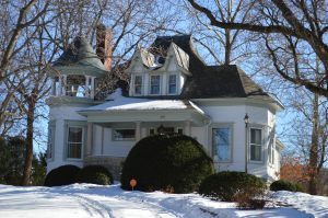This Charles Dieman-designed home at 2015 B Ave. NE originally was located two miles away, but was moved to B Avenue in 1918, as a surprise from John Wurster to his wife. (photo/Cindy Hadish)