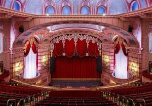 The complex restoration of the Paramount Theatre, 123 3rd Ave. SE, required extensive research and analysis to identify the materials and techniques used to create the original elements. A team of experts was brought in to examine and restore the building's historic features. (photo courtesy of Ryan Companies)
