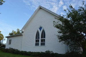 The former Buffalo United Methodist Church, 4009 Blairs Ferry Rd. NE, will become the location for a new Goodyear Tire store. (photo/Cindy Hadish)