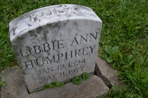 Libbie Humphrey and her husband, Thomas, are buried in the Kuba family plot at the Czech National Cemetery in Cedar Rapids. (photo/Cindy Hadish)