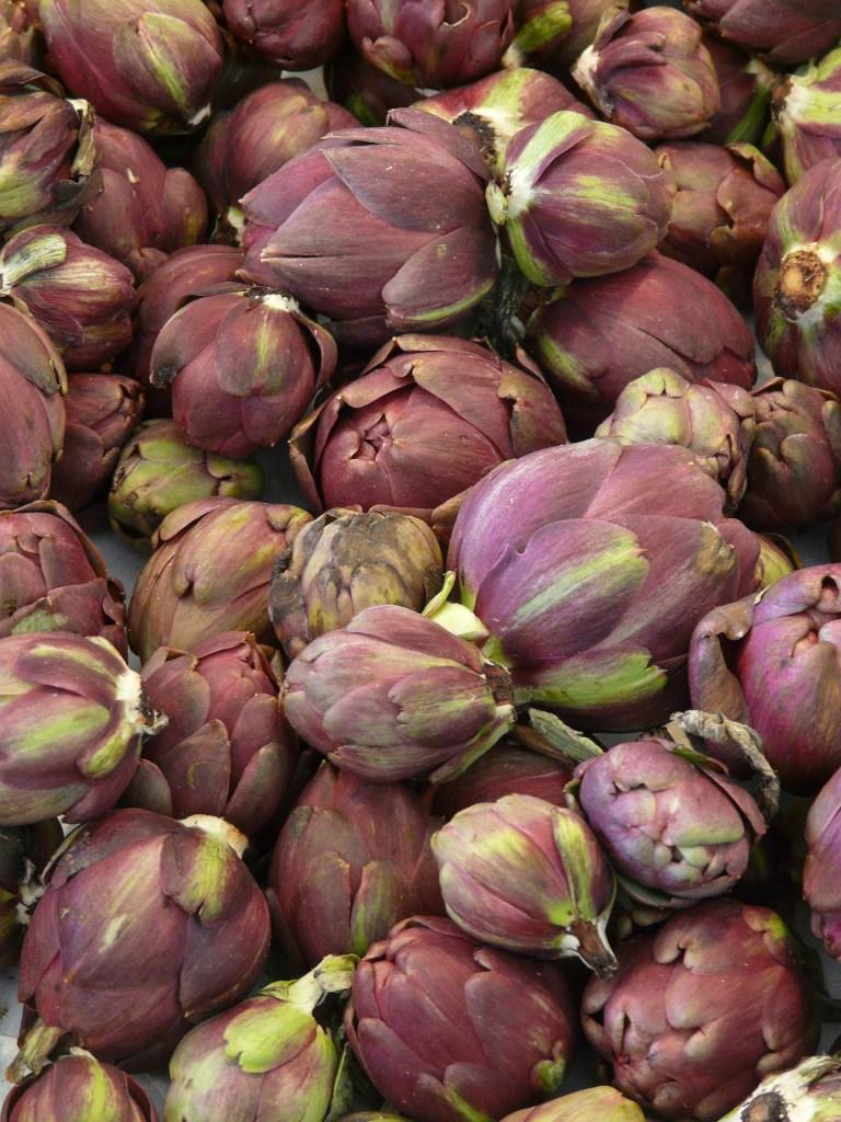 recette pour utiliser les feuilles d'artichauts violets salade Poivrade