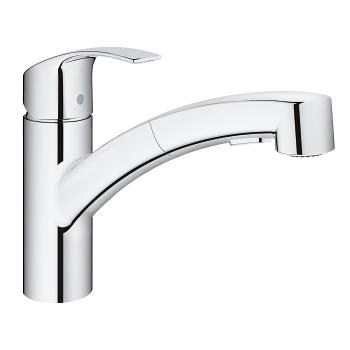Grohe Eurosmart With Pull Out Spray Single Lever Swivel