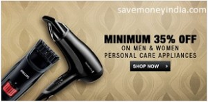 Personal Care Appliances minimum 30% off from Rs. 169 – FlipKart image