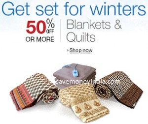 Blankets & Quilts 50% off or more from Rs. 173 – Amazon image