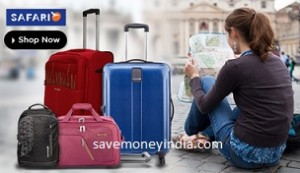 Safari Luggage 67% off from Rs. 2366 – FlipKart image