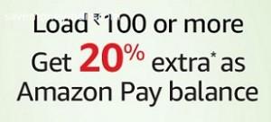 Amazon Pay Balance Cash Load 20% Cashback on Rs. 100 image