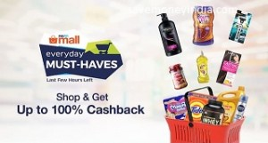 Everyday Must Haves Buy 3 Get 90% Cashback – PayTmMall image