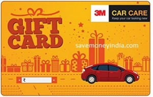 3M Car Care Gift Card 15% off from Rs. 850 – Amazon image