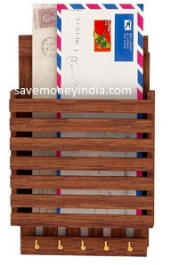 Home Sparkle Letter Rack and Key Holder Rs. 289 – Amazon image