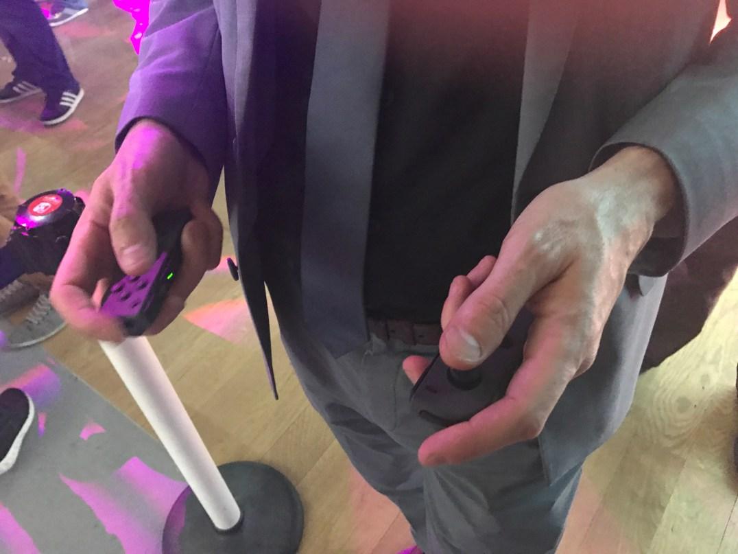 Nintendo Switch Event Grand Palais : JoyCon entre les mains