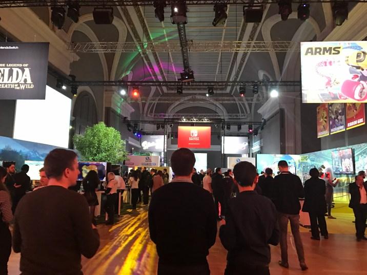 Nintendo Switch Event Grand Palais : vue du salon