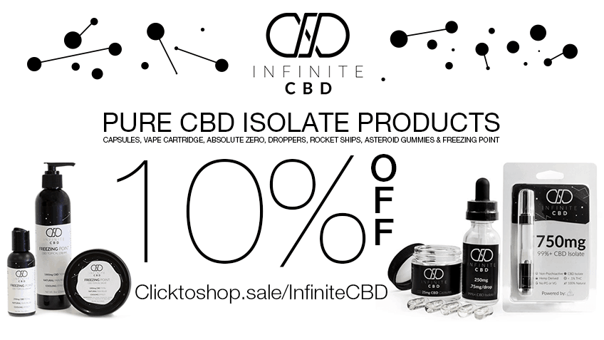 Get Infinite CBD coupon codes here for online cannabis CBD.