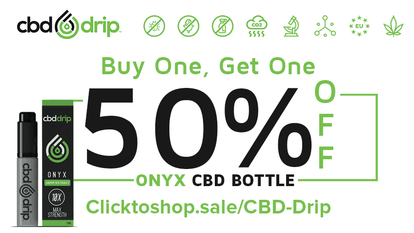 Save with CBD Drip coupon code for Onyx vape.