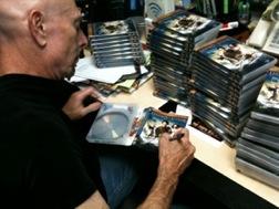 TG signing DVDs