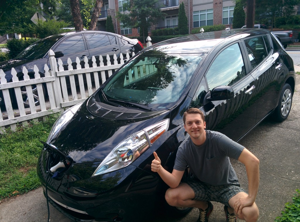 hanging out with my new Nissan Leaf