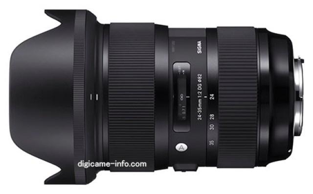 Lensa Sigma 24-35mm F/2 DG HSM Art Full Frame Akan Diperkenalkan