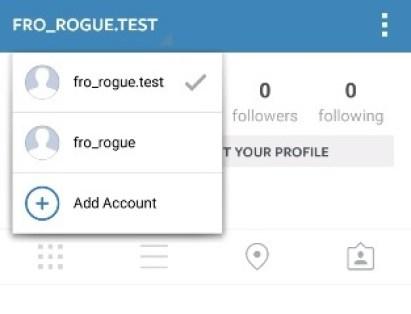 Instagram multiple account
