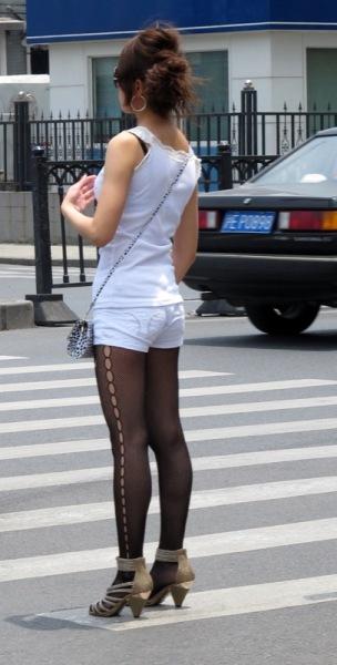 Beijing-China-Fashion-Girl-Tights