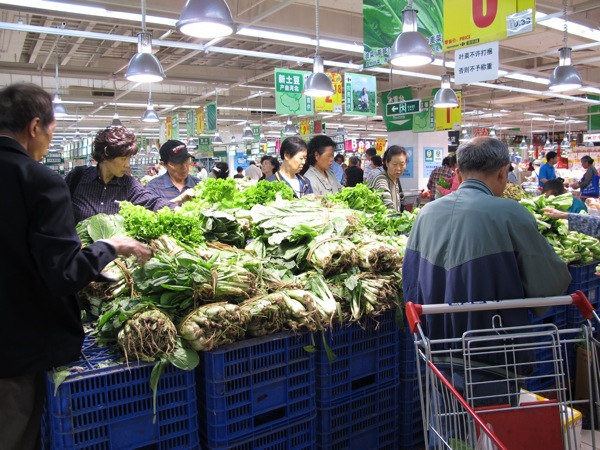 Beijing-China-Photograph-Travel-Freshest-Vegetables-Carrefour