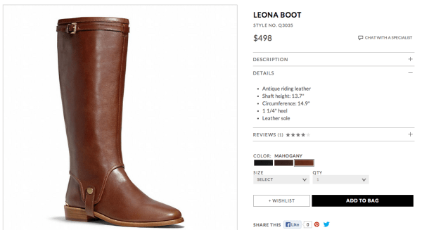 Coach-Leona-Boot-Riding-Cognac