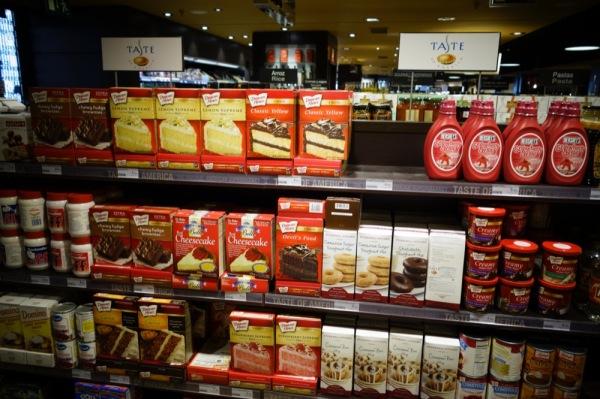 Madrid-Spain-Taste-of-America-Duncan-Hines-Products-Aisle-Groceries