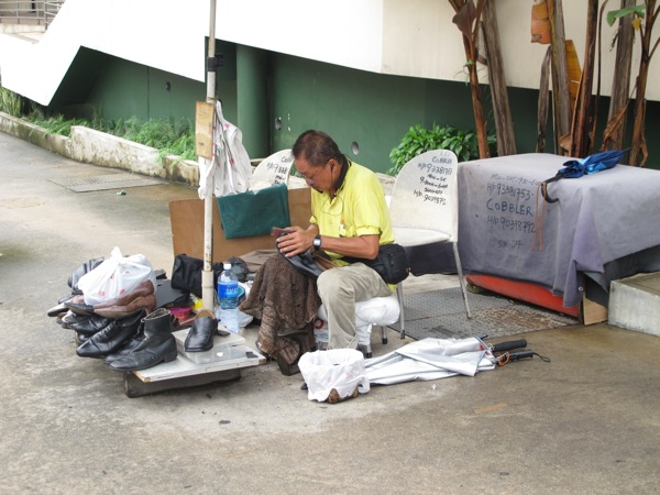 Photograph-Singapore-Cobbler-Working-Man-Older-Career-Job